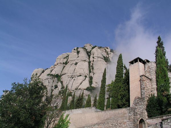 Monday, September 8 - We arrive in Barcelona, Spain  at 7 a.m.  We are off the ship early and board a bus to visit Montserrat (the serrated mountain).