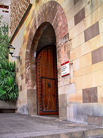 The side entrance to the church.