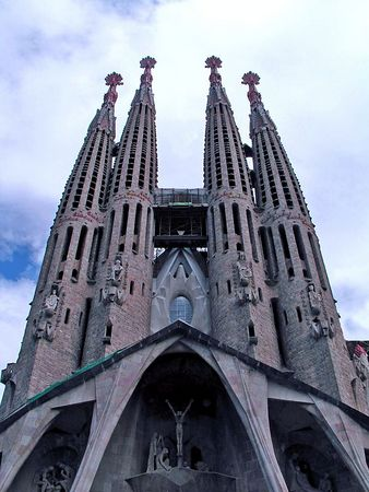 La Sagrada Famila, the famous cathedral designed by Antonio Gaudi.