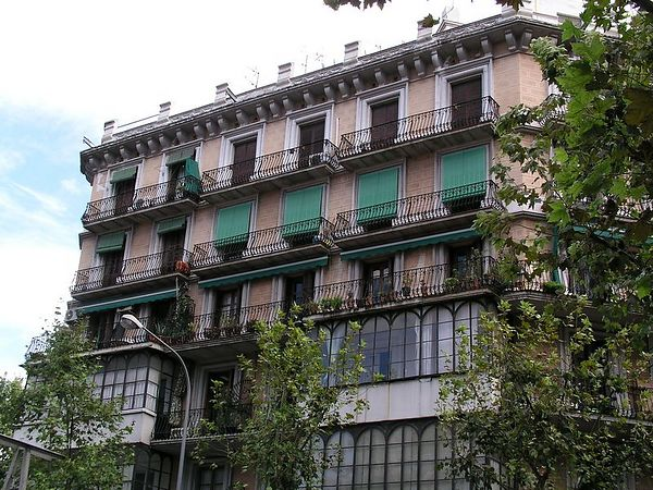 Many of the buildings along the boulevards have ornate iron work
