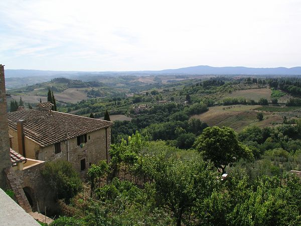 Looking out over the Tuscan countryside