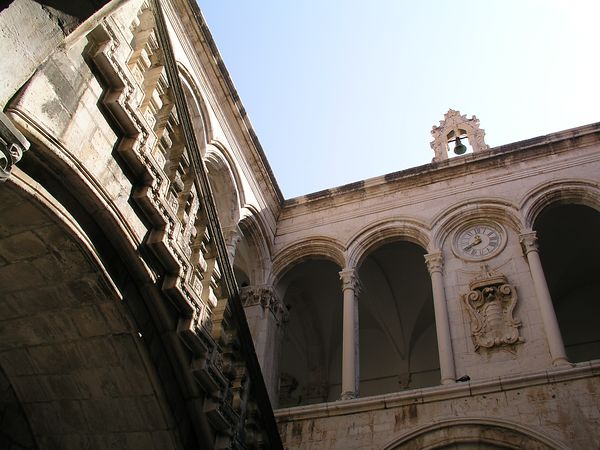 The courtyard of the cathedral