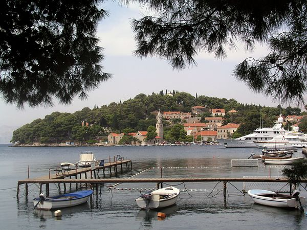 Cavtat harbor from the North end