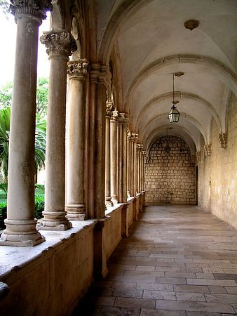 A Catholic monastery in Dubrovnik. The Catholic and Greek Orthodox Churches co-exist in Dubrovnik.