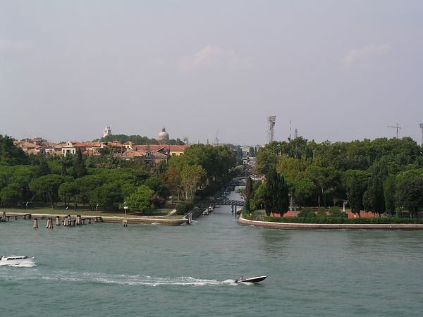 The end of the lagoon area is known as the Lido (beach).