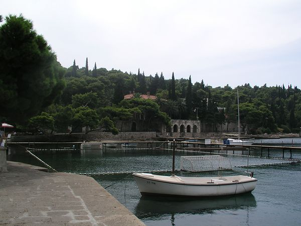 The harbor at Cavtat near dubrovnik