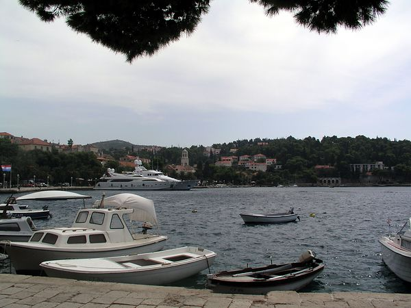 Boats and yachts in the Cavtat harbor