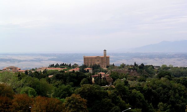 The view from the fortress wall of Volterra