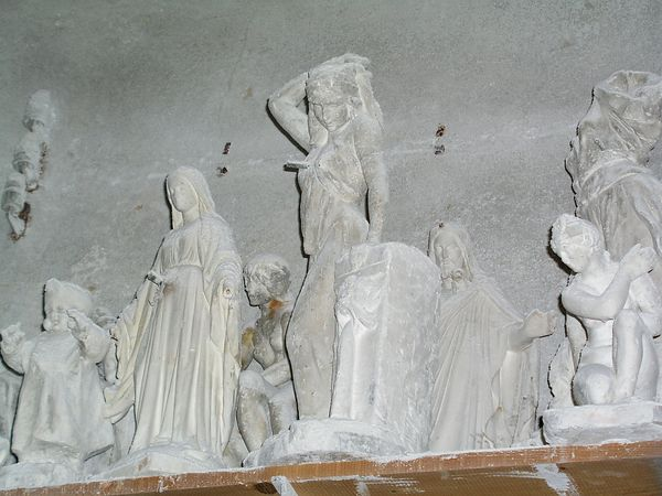 Some alabaster carvings in the factory