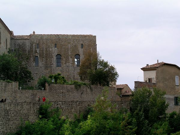 The fortress walls of the town of Voltera, Italy.