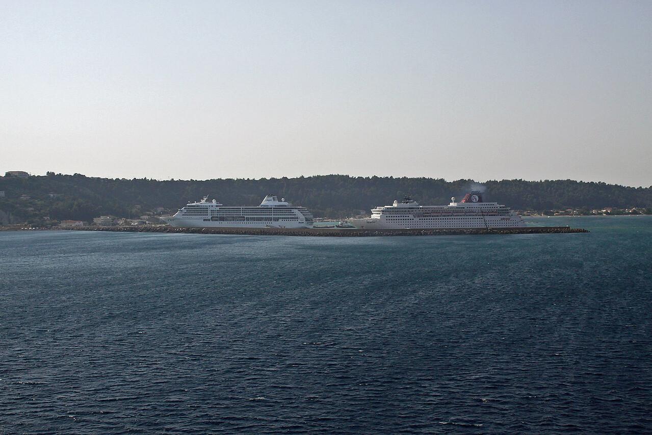 Leaving Port Katakolon, Greece