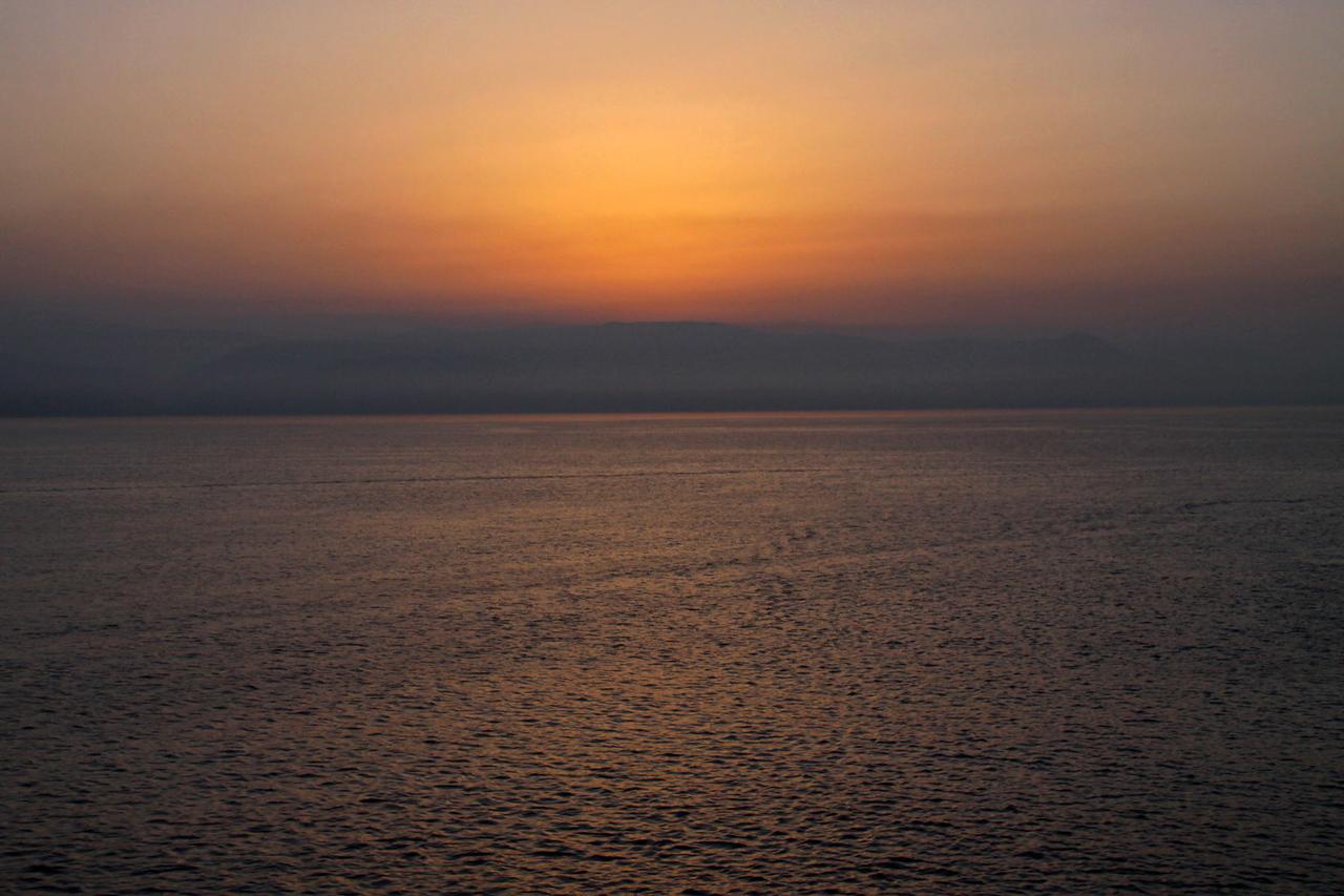 Sunrise Over Distant Greek Island