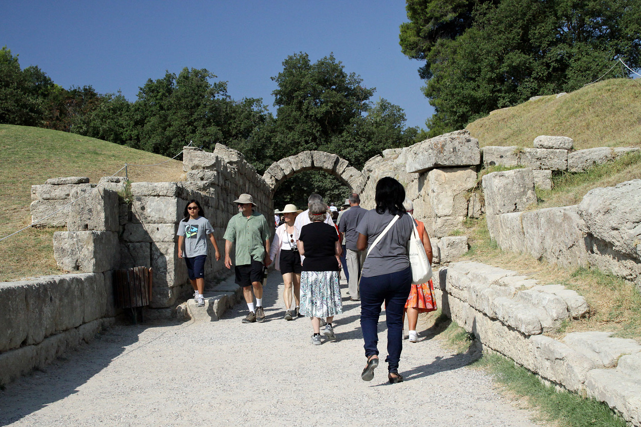 Arch Gate to Stadium - Ancient Olympia