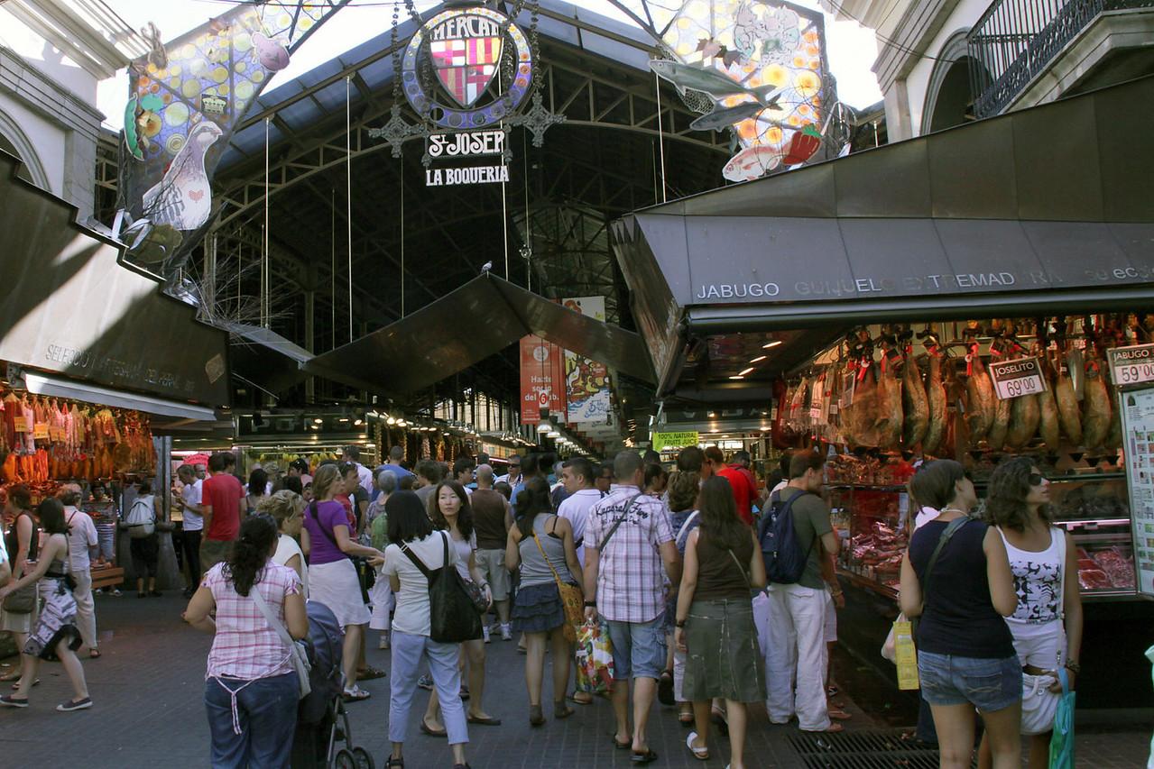 La Boqueria Market on La Ramblas Street
