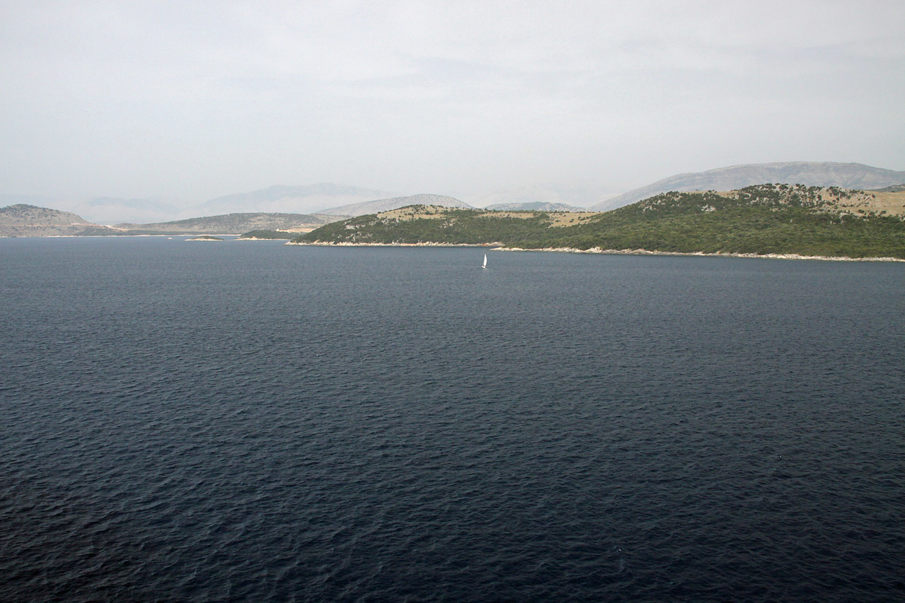 Entering Straight - Greece Mainland on Starboard