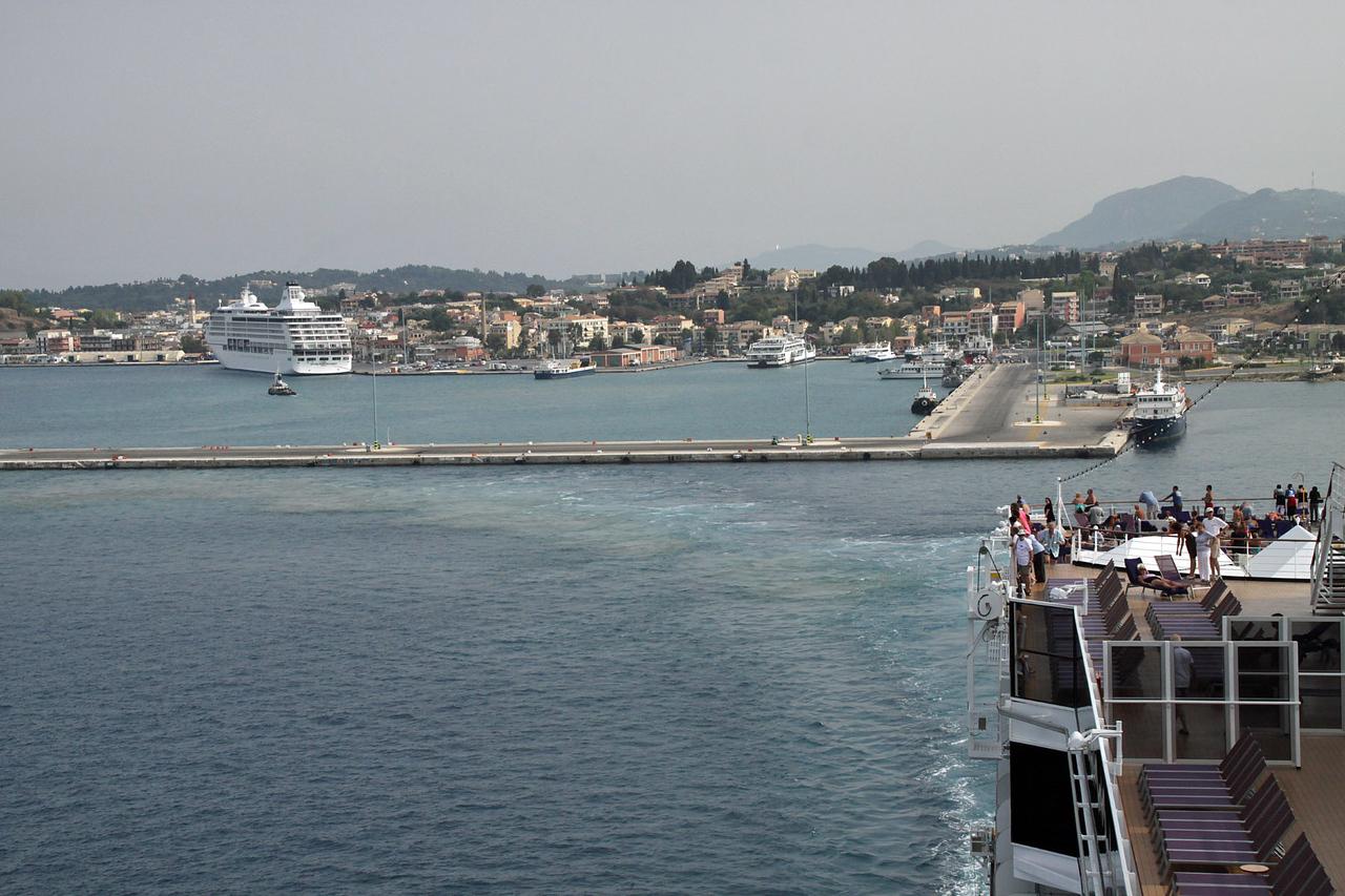 Sailing from Corfu Harbor