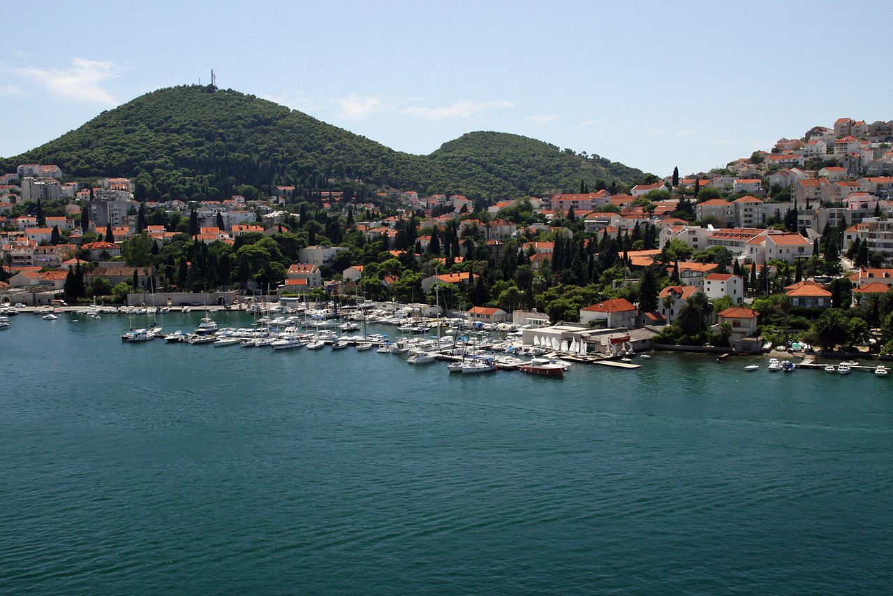 Dubrovnik Harbor from Ship