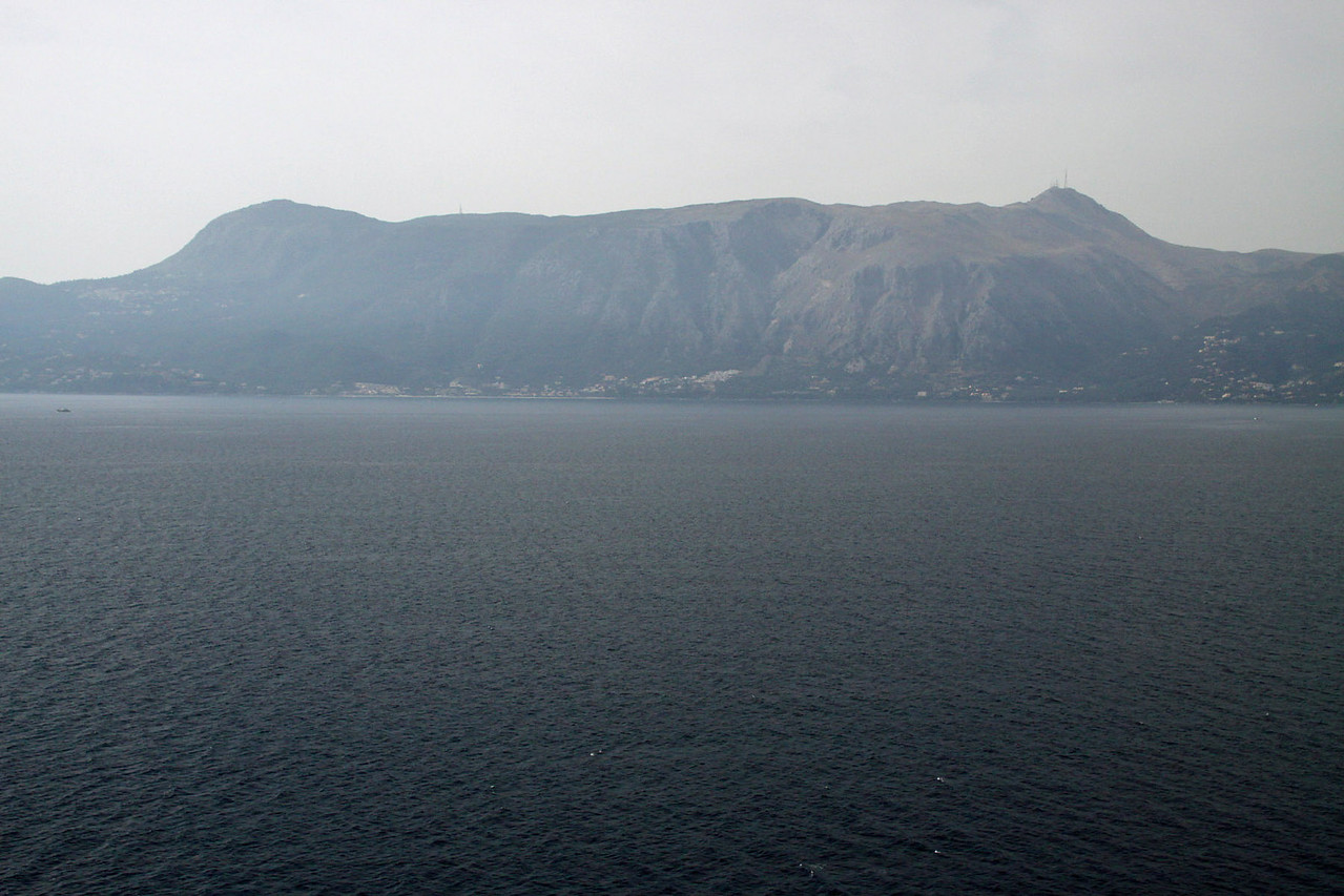 Corfu Island on Port