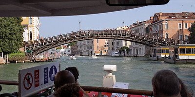 Wooden Bridge Over Grand Canal
