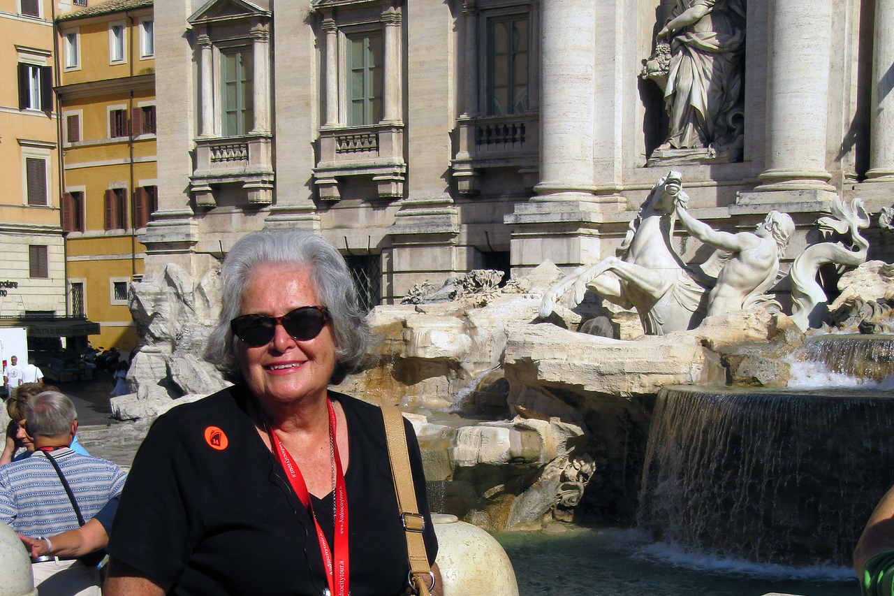 Betty at Trevi Fountain