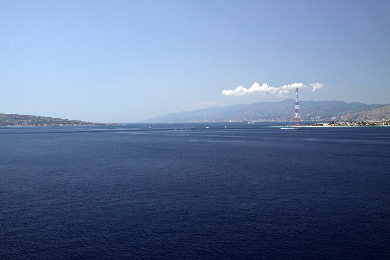 Entering Straight of Messina