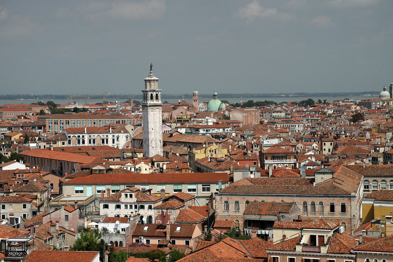 Panorama of Red Tile Roofs