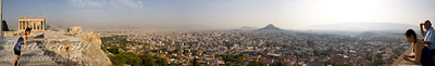 Panoramic view of Athens from the Acropolis.