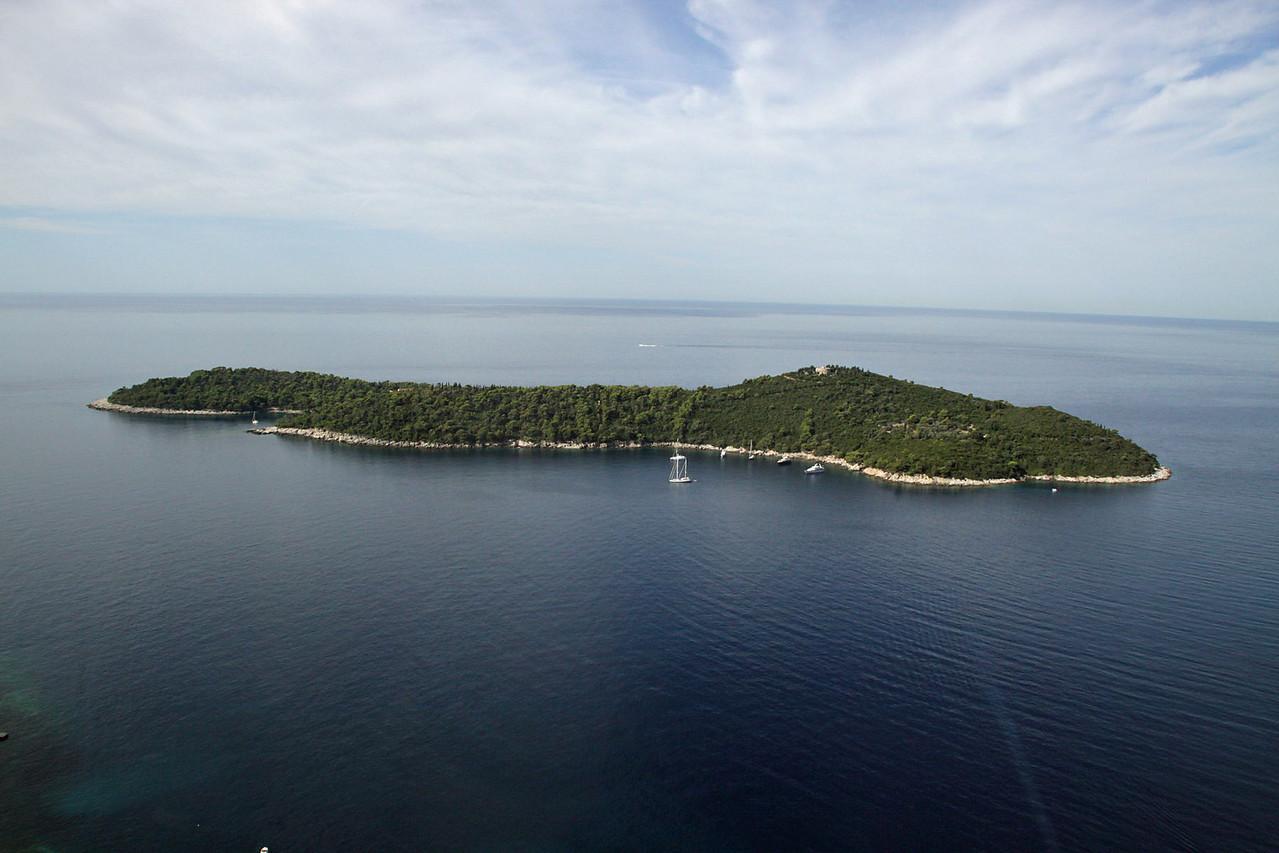 Lokrum Island from Bus