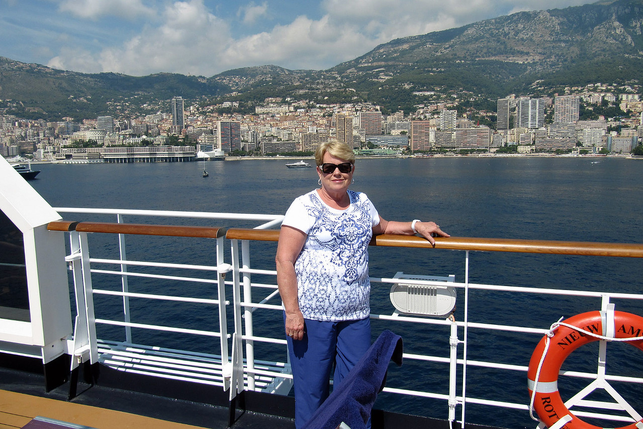 Connie on Ship at Monte Carlo