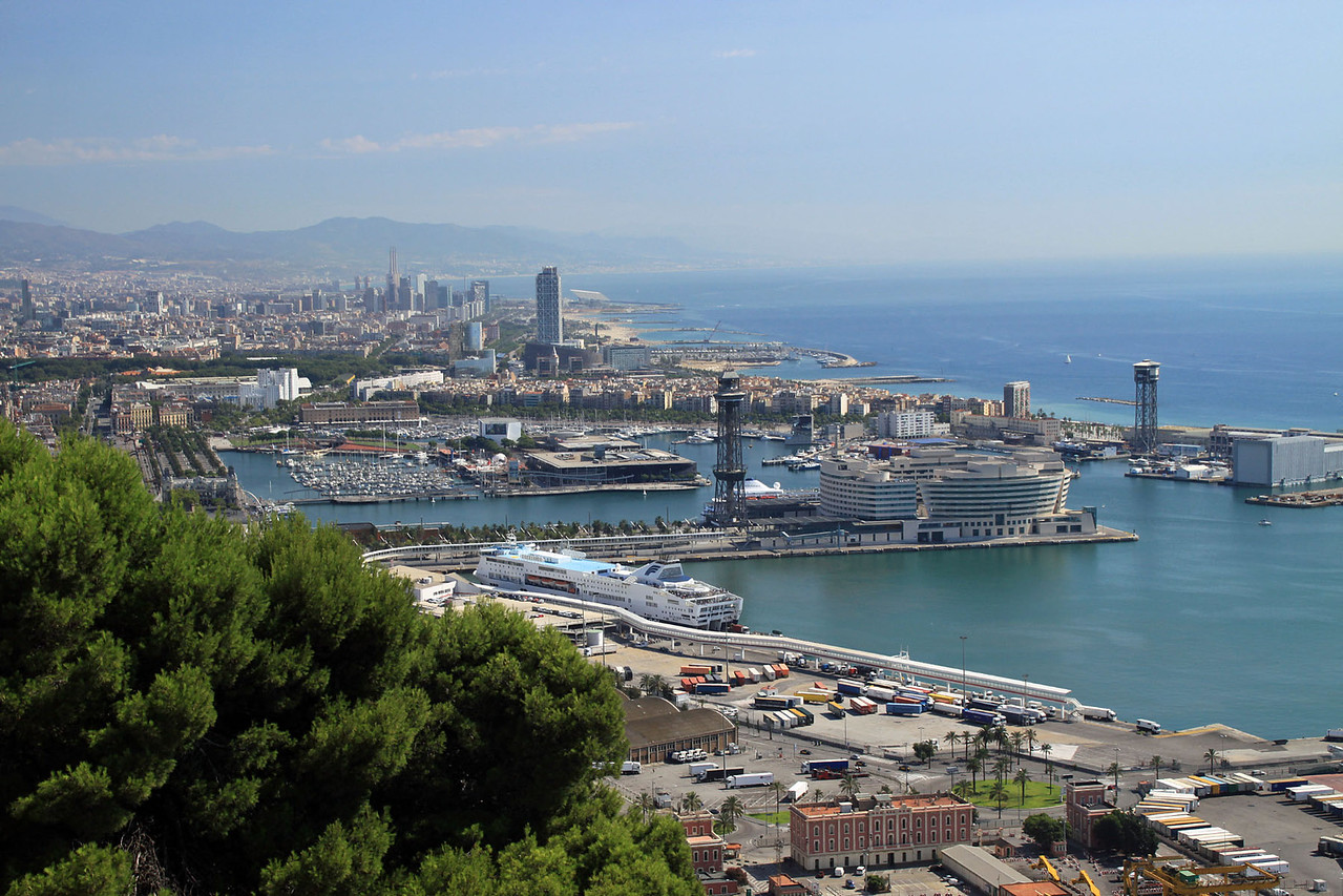 Seafront from Fort Montjuic