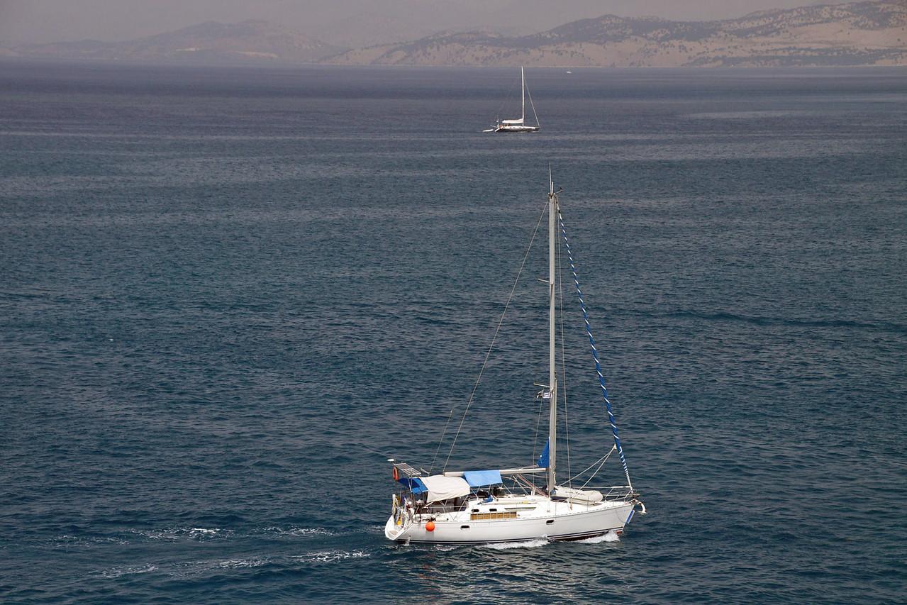 Corfu Harbor from Ship