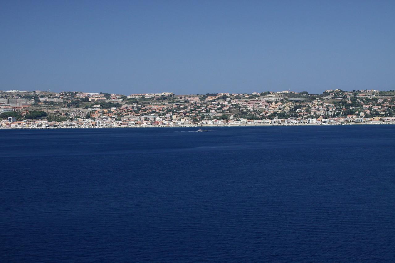 Sicily Coast - Approaching Messina