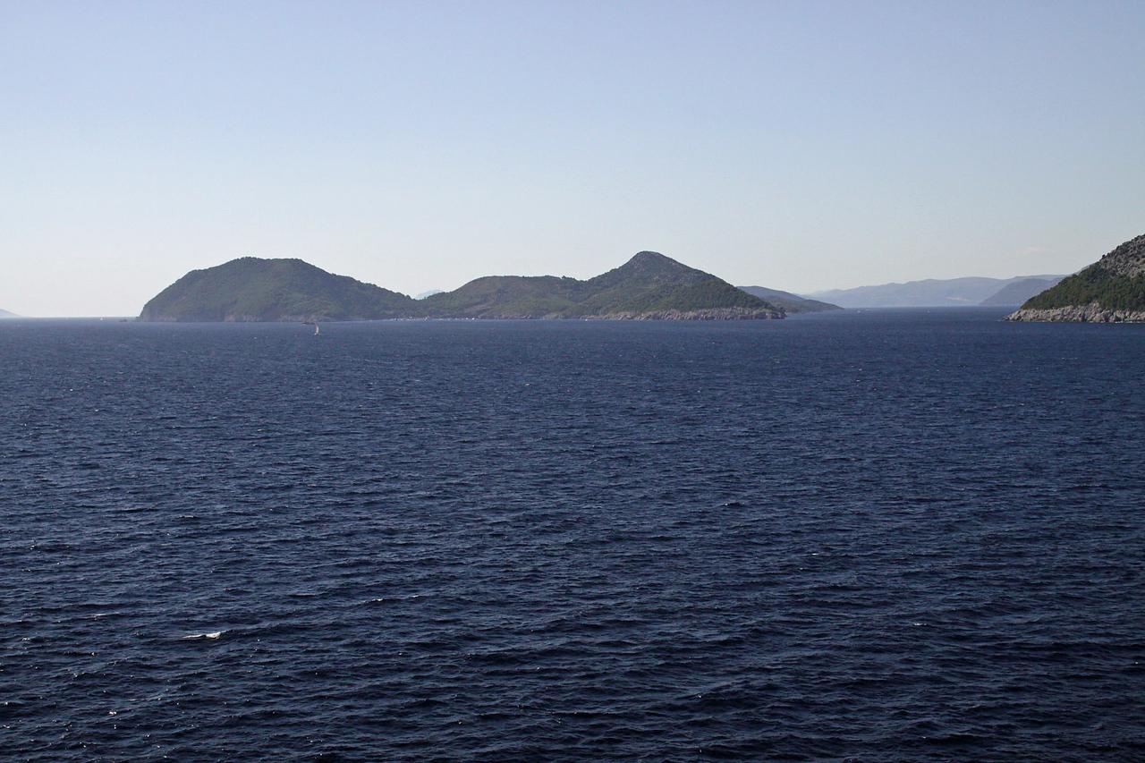 Sailing North from Dubrovnik, Croatia