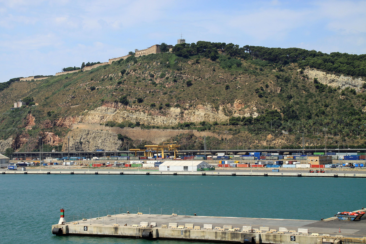 Fort Montjuic View from Port