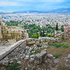 View from the Acropolis in Athens.