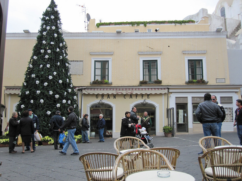 The Square in Capri during the Christmas Season.
