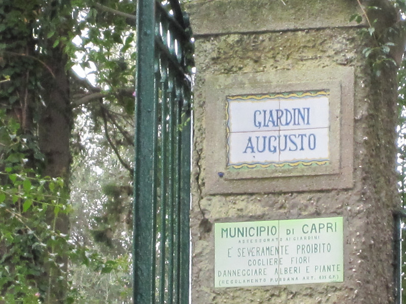 The Gardens of Caesar Augusto.  (Capri)