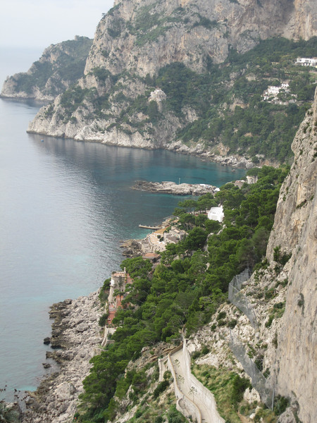 View from the top of Capri.