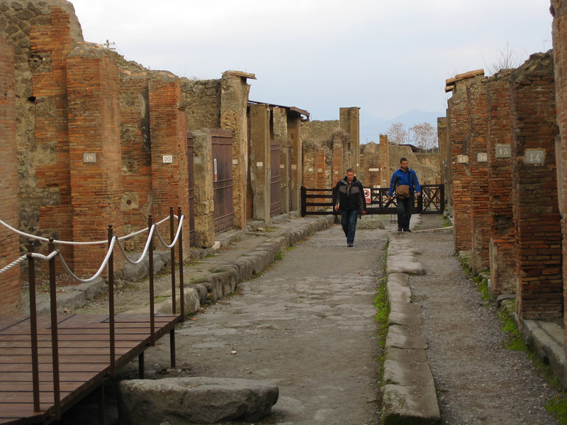 Street in residential area of Pompeii