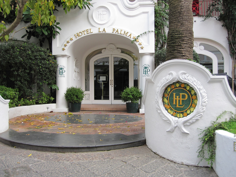 This is the entrance to the Hotel La Palma on the Isle of Capri.