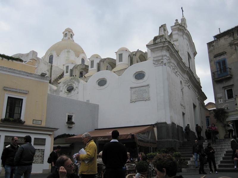 The Capri Square, showing the Capri Cathedral.