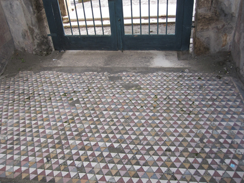 Mosaic tile in the entrance to a great home.