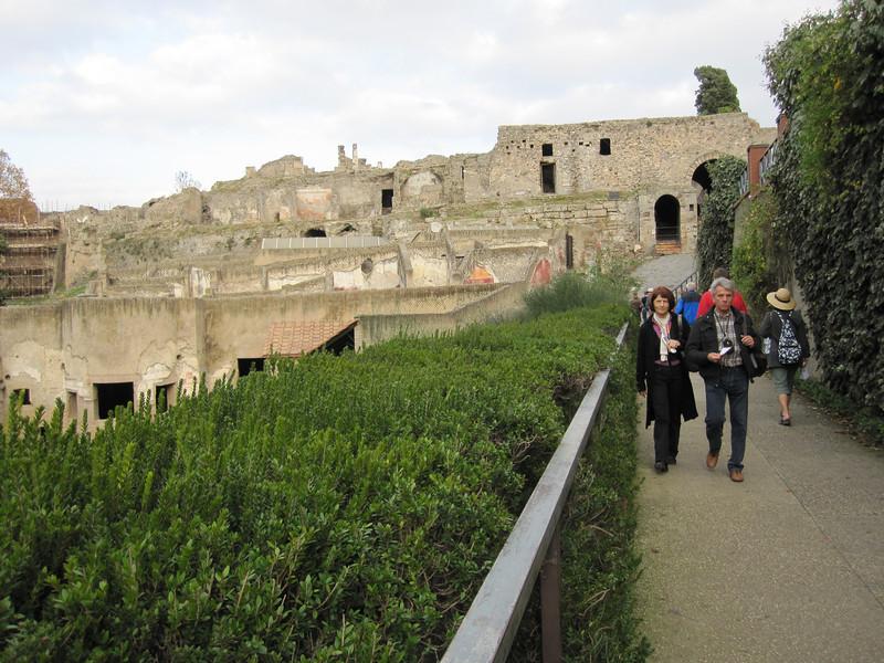 arriving at Pompeii
