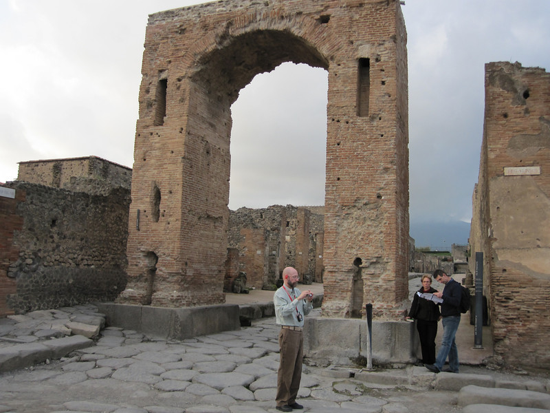 An archway into a part of Pompeii