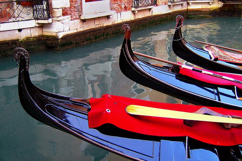 Gondolas at Venice