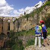 Male and Female Mountain Climbers at El Tajo, Ronda, Spain.