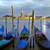 Romantic Gondolas at Grand Canal, Venice, Italy.