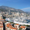 Panoramic view of Nice Harbour, France with beautiful blue sky.