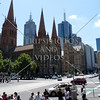 St Paul's Anglican Cathedral in the centre of the city of Melbourne, Australia.