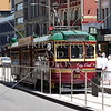 A City Circle Tram in Melbourne, Australia.